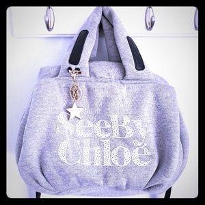 See By Chloe gray crossbody handbag